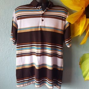 Design Lab retro striped polo size XL